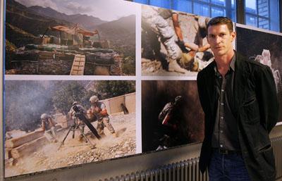 Hetherington at the opening night of the World Press Photo Award exhibition in Zurich, Switzerland, on May 7, 2008. (AP/Keystone/Eddy Risch)