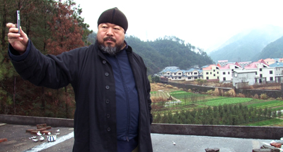 A still from the film of Ai Weiwei, taken in Jingdezhen, China, in 2010. (Courtesy Ai Weiwei: Never Sorry)