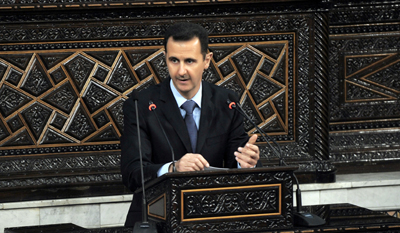 President Bashar al-Assad's government has made a practice of jailing bloggers. (Reuters)