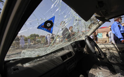 The Taliban claimed responsibility for a bomb blast that killed two in Peshawar. (Reuters/Fayaz Aziz)