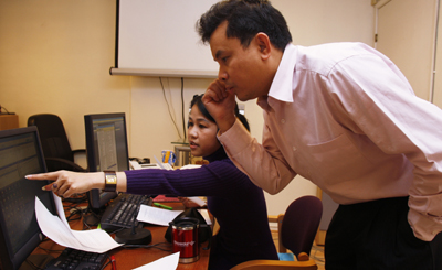 Editors at Democratic Voice of Burma face repeated cyber-attacks. (AP/Morten Holm)