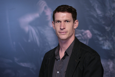 """Tim Hetherington at the World Press Photo Award exhibition in Zurich in 2008. He won for his photo """"American Soldier."""" (AP/Keystone/Eddy Risch)"""