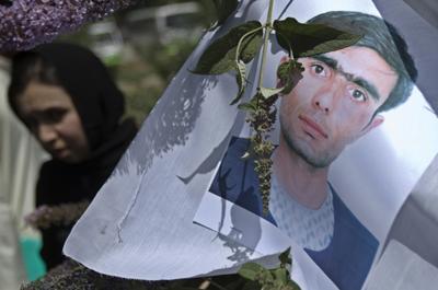 A memorial for the slain Rohani. (Reuters/Ahmad Masood)