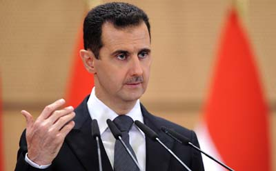 President al-Assad appears to have encouraged hacking attacks. (AP)