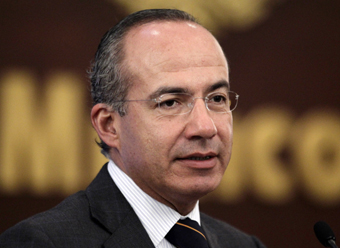 Calderon has promised to fight crimes against the press, but action has been slow. (Reuters/Henry Romero)