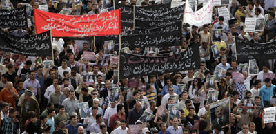 In Sulaymaniyah, outrage over murder of Sardasht Osman. (AP/Yahya Ahmed)