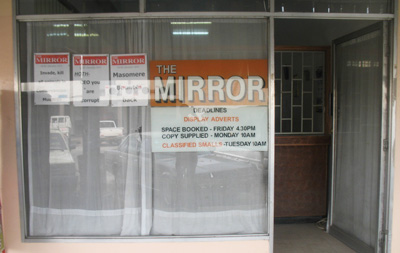 The offices of The Mirror, a weekly newspaper in Masvingo, were ransacked Thursday morning. (The Mirror)