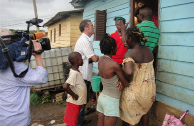 The ZDF crew filming in Equatorial Guinea. (Courtesy ZDF)