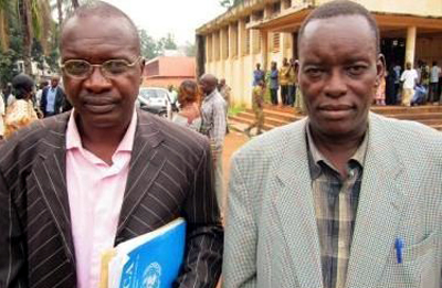 Sandy and Bambou are free after spending weeks in jail for covering public protests.(Centrafrique-Presse)