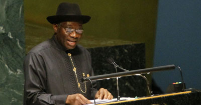 President Goodluck Jonathan signed a public information bill long in the making. (AP/Bebeto Matthews)