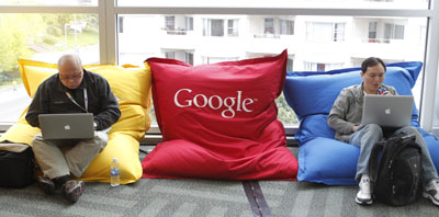 A Google developers conference in May. (Reuters/Beck Diefenbach)