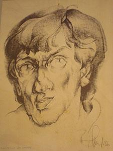 A portrait of Shchekochikhin in his dacha. (CPJ)