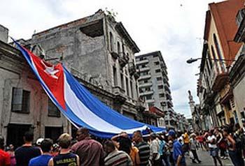 Un acto de repudio en La Habana, fotografiado por la periodista independiente Magaly Norvis Suárez.