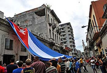 An act of repudiation in Havana, as photographed by independent journalist Magaly Norvis Suárez.