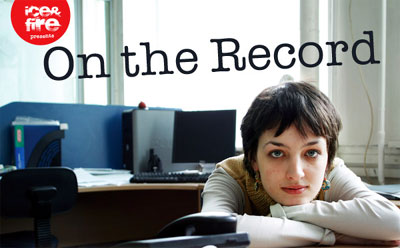 """A promotional image for """"On the Record,"""" which opens this week at London's Arcola Theatre."""