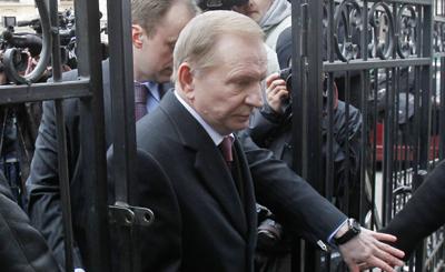 Kuchma, under indictment, denies involvement in the Gongadze slaying. (Reuters/Gleb Garanich)