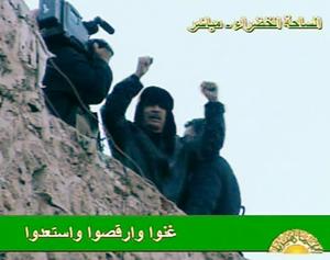 Qaddafi on state TV in February. (AP)