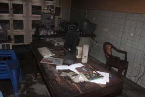A workstation inside RLTV. (John Bompengo)