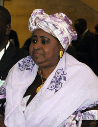 Gambian Vice-President Isatou Njie-Saidy (AFP)