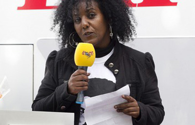 Meron Estefanos was threatened over her coverage of journalist Dawit Isaac. (Sven Lindvall/Expressen)