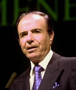 Carlos Saúl Menem, former president of Argentina. (AP)