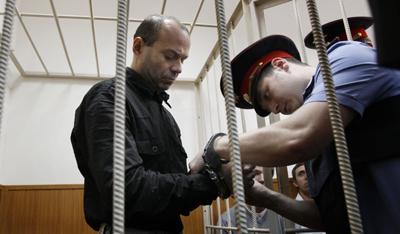 Pavlyuchenkov in a Moscow court. (AP/Ivan Sekretarev)