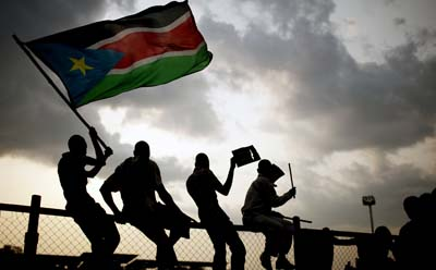 In the first months of an independent South Sudan, the press is feeling its way. (AP)