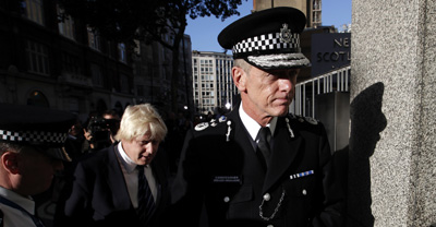 Bernard Hogan-Howe, the new commissioner of the Metropolitan Police, outside Scotland Yard. (Reuters/Andrew Winning)
