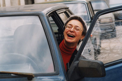 Anna Politkovskaya emerges as a woman of humor in a new documentary. (AP)