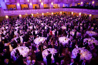 CPJ's annual International Press Freedom Awards dinner took place at the Waldorf Astoria in New York. (Michael Nagle/Getty Images for CPJ)