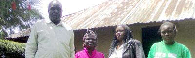 From left, Francis Nyaruri's father, Peter Nyaruri; Peter's wife; the journalist's widow, Josephine Kwamboka; and his sister (CPJ)