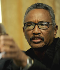 Puntland President Abdirahman Mohamed Faroole lambasted the media for undermining national security. (AFP)