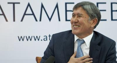 New President Almazbek Atambayev was sworn in Thursday in Bishkek, Kyrgyzstan. (AP)