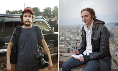 An Ethiopian court has sentenced Swedish journalists Johan Persson (left) and Martin Schibbye to 11 years in prison. (AFP)