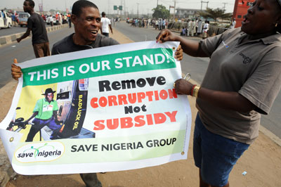 Some Nigerians suggested the media should take the side of the protesters. (AFP/Pius Utomi Ekpei)