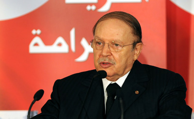 Algerian President Bouteflika has not honored his pledge of media reform. (AFP/Fethi Belaid)