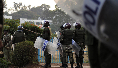 Kenyan police are accused of widespread extrajudicial killings, including the murder of reporter Francis Nyaruri. (AFP/Tony Karumba)
