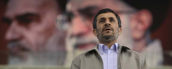 Iranian president Mahmoud Ahmadinejad's government is the most repressive: 42 journalists are behind bars. (AP)