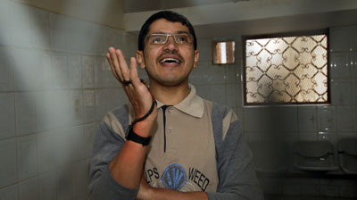 Abdulelah Hider Shaea has been imprisoned since 2010 on antistate charges. (AFP/Mohammed Huwais)