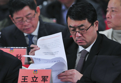 """Wang Lijun, until recently a deputy mayor and police chief, has been put on a medical """"vacation."""" (Reuters)"""