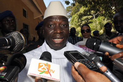 Gambian President Yahya Jammeh has reportedly asked for U.N. assistance to investigate the case of a missing journalist. (AFP/Seyllou)
