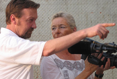 Tom Heinemann with his wife and camerawoman, Lotte la Cour (Paul Gomes)