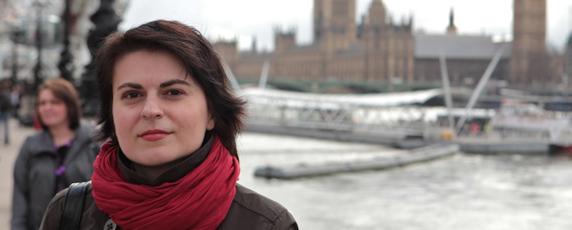 ناتاليا رادينا الحائزة على جائزة لجنة حماية الصحفيين