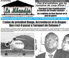 Le Mbandja carried this coverage of the presidential jet scandal. (CPJ)