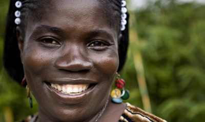 Journalist Mae Azango and her colleagues at FrontPage Africa have been threatened repeatedly for her story on female genital mutilation. (New Narratives)