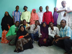 The staff of Codka Nabadda (Voice of Peace). (Somalia Report)