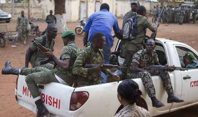 Soldiers loyal to junta leader Amadou Sanogo have attacked and threatened several journalists in the days following the coup. (AP/Rebecca Blackwell)