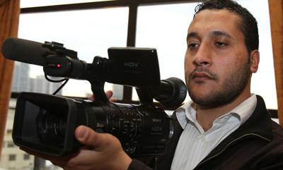 Lebanese cameraman Ali Shaaban was killed in Syria today. (AFP/Anwar Amro)
