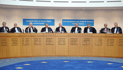 Judges hear a case in the European Court of Human Rights. More than 60,000 people sought the court's help in 2011. (AFP/Frederick Florin)