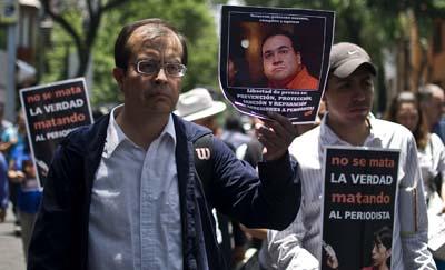 Periodistas mexicanos protestan por asesinatos de sus colegas(AFP/Ronaldo Schemidt)